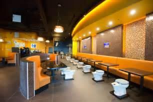 Modern Bathroom Restaurant Grody Toilet Themed Restarant Opens In Los Angeles