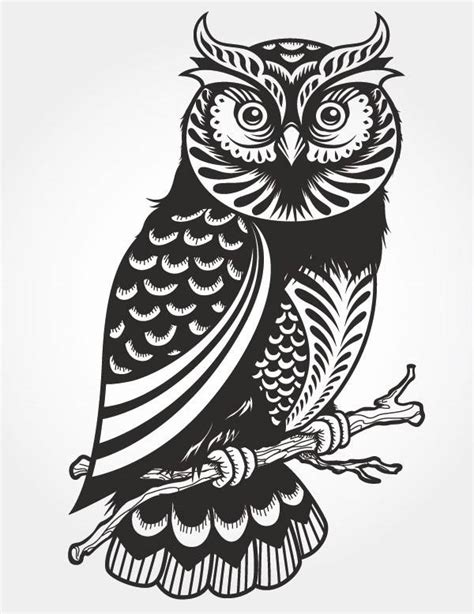 Owl Paper Cut Vector Pattern Vector Free Vector Download Free Vector Vip Silhouette Templates For Paper Cutting