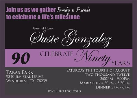 90th birthday invites templates 50 best invitations images on invitations