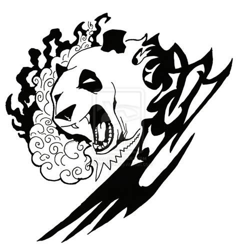 Screaming panda and tribal tattoo design tattoo ideas