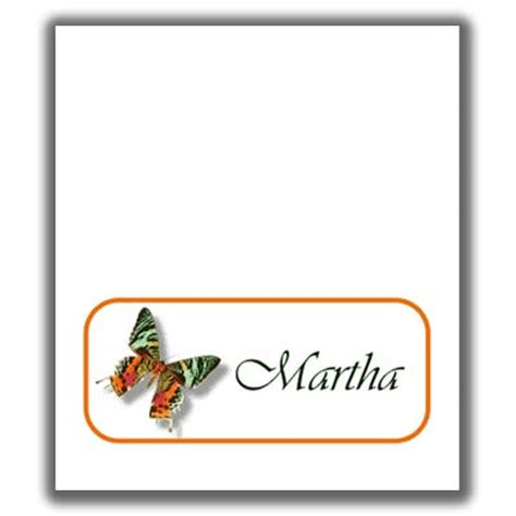 Aim Template Butterfly Place Cards by Butterfly Place Card Templates