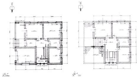 working drawing floor plan villa al beyli working drawing ground floor and first