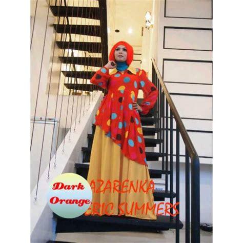 Dress Glitzy By Ayyanameena azarenka d orange baju muslim gamis modern