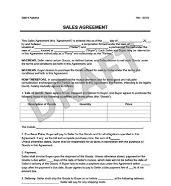 Sales Agreement Create A Free Sales Agreement Form Furniture Purchase Agreement Template