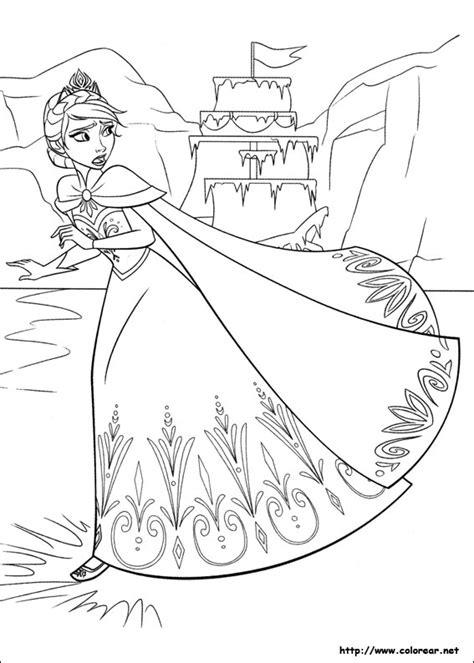 frozen coloring pages big dibujos para colorear de frozen el reino hielo