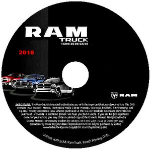 car repair manual download 2010 dodge ram 2500 user handbook 2010 dodge ram truck 1500 2500 3500 factory service manual cd rom