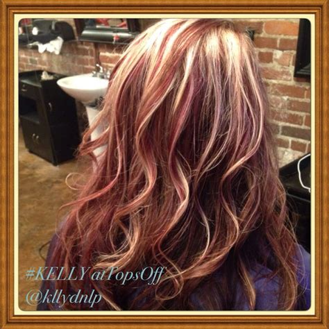 blond highlights 2014 beautiful fall haircolor rich auburn with blonde