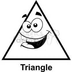 geometry triangle cartoon face silly math clip art