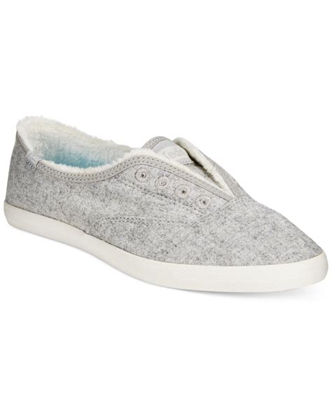 s laceless sneakers keds s chillax laceless sneakers in gray grey lyst