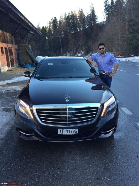 driving across switzerland in a mercedes s class w222