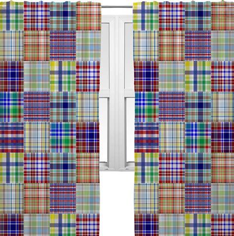 madras curtains blue madras plaid print curtains 20 quot x63 quot panels