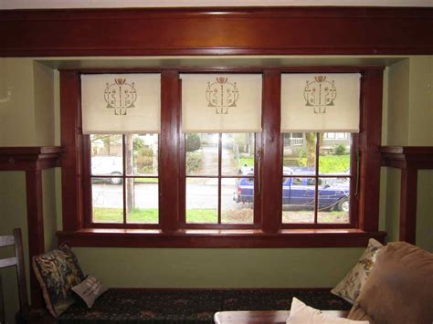 arts and crafts style l shades laurelhurst craftsman bungalow made roller shades dma