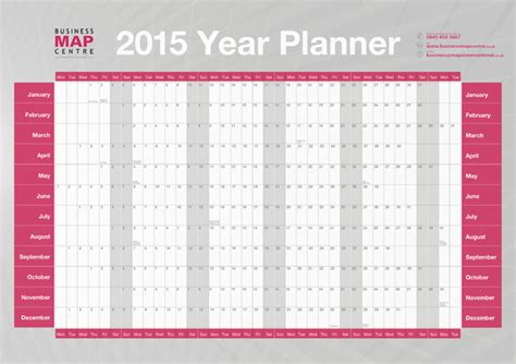printable year planner 2015 a3 free printable 2015 yearly calendar planner