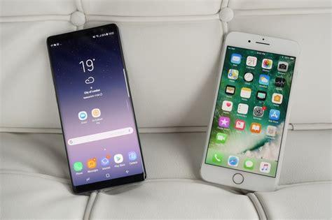 galaxy note 8 vs iphone 7 plus look phonearena reviews phonearena