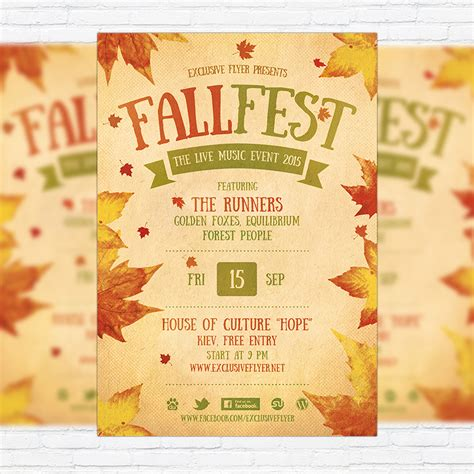 Fall Festival Premium Flyer Template Facebook Cover Exclsiveflyer Free And Premium Psd Fall Festival Invitation Templates