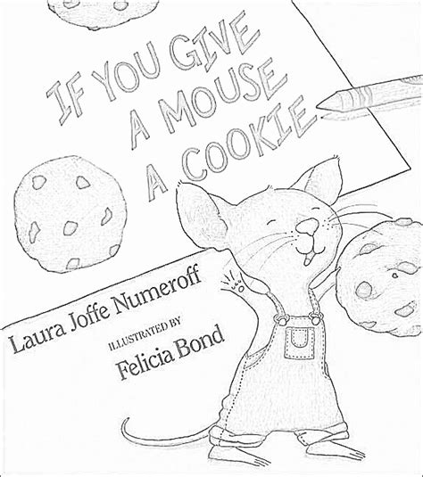 laura numeroff coloring pages printable sketch coloring page