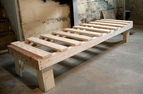 How To Make Futon Frame by Once I Made A Bed Other Backyard