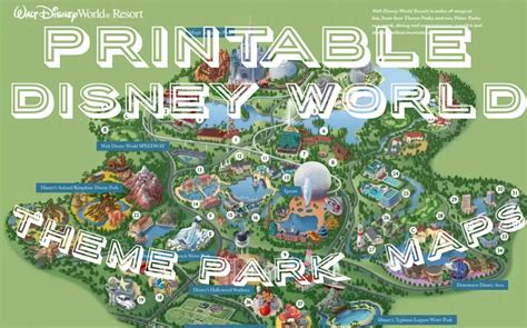 printable disney world maps 8 best images of disney world maps printable walt disney