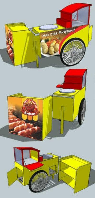 model gerobak sosis bakar modern   hits