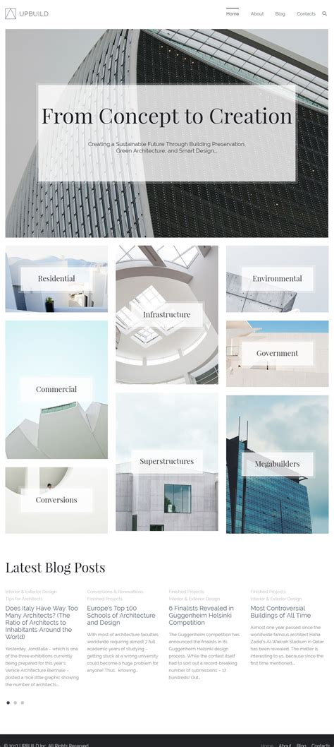 pc themes build upbuild premium responsive architecture firm wordpress theme