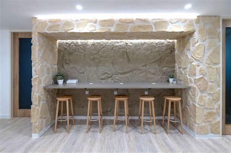 stone panelstexture wallsserviced officesdesign