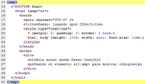 imagenes html codigo escss elemento xmp muestra c 243 digo sin usar html entities