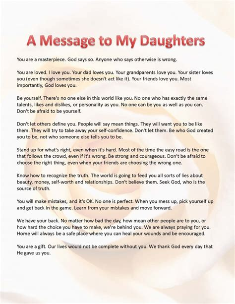 up letter to my baby this is what i want my daughters to a message for