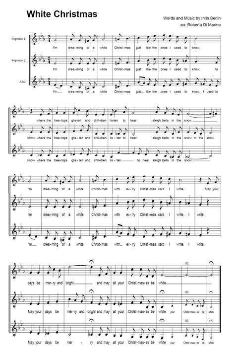 printable lyrics white christmas white christmas sheet music christmas sheet music