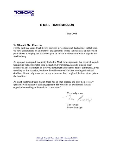 Letter Closing Truly Yours Recommendation Letter From Tim Powell