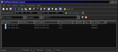 network scan network mac address scanner linux