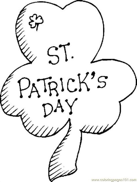 printable shamrock coloring pages az coloring pages