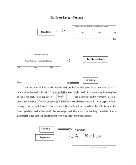 Standard Business Letter Definition standard business letter format standard business letter