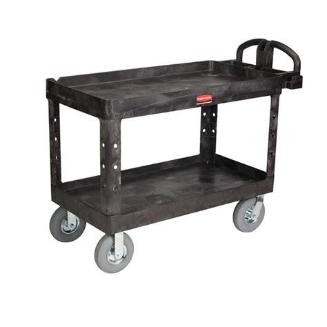 Lipped Shelf by Rubbermaid Commercial Products Heavy Duty Black 2 Shelf