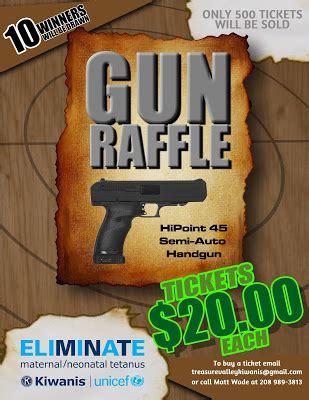 Treasure Valley Kiwanis Gun Raffle Ticket Template