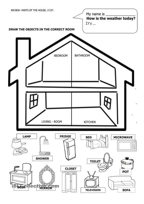 Kindergarten Activities My House | image result for cut and paste parts of the house