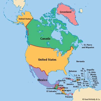 america map of countries best photos of countries in america america
