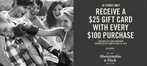 Abercrombie And Fitch Gift Card - abercrombie and fitch 25 gift card with purchase bargainmoose canada