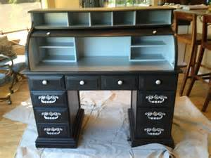 Best Desk L For Painting Thrift Store Roll Top Desk Painted Just Diy It