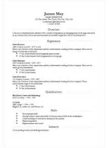 Cv Template by Smart Division Cv Template In Ms Word How To Write A Cv