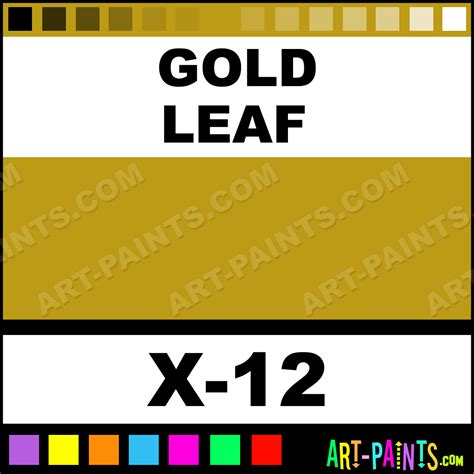 gold leaf color acrylic paints x 12 gold leaf paint gold leaf color tamiya color paint