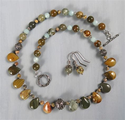 Handmade Beaded Necklace - handmade rocky butte jasper briolette necklace handmade