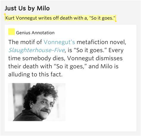 Kurt Vonnegut Dies At 84 So It Goes kurt vonnegut writes with a quot so it goes quot just us