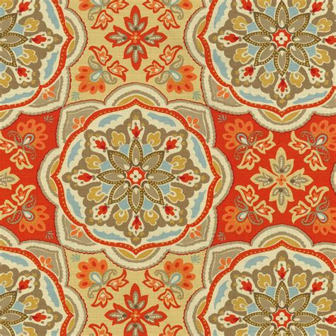 home decor print fabric waverly tapestry tile clay at