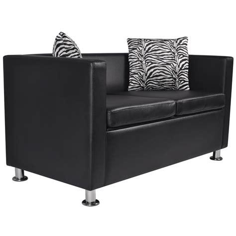 divani pelle nera divano in pelle nera artificiale 2 posti vidaxl it