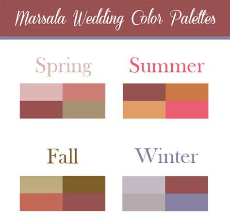 Pantone Color Palettes marsala wedding color palette inspiration