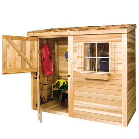 shop cedarshed bayside lean  cedar storage shed common