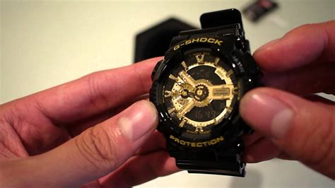 G Shock Gshock Ga 110 Black Gold g shock ga110 gb black gold