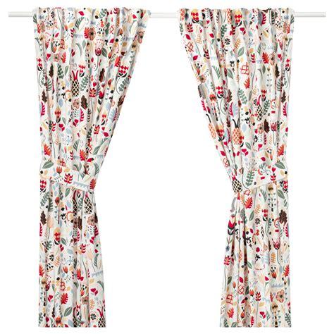 vorhang verdunkelung ikea r 214 darv rideaux embrasses 1 paire multicolore 145x300 cm