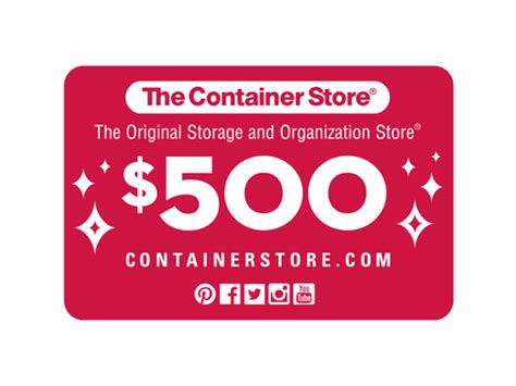 The Container Store Gift Card - win a 500 container store gift card ellen degeneres news newslocker