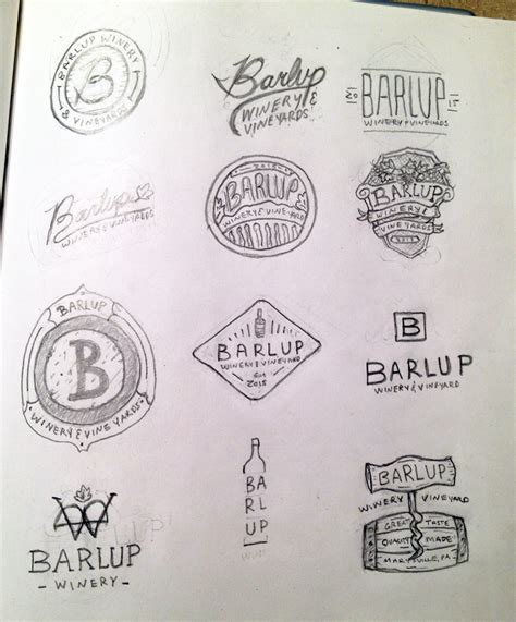 logo sketch winery logo preliminary sketches david stidfole design